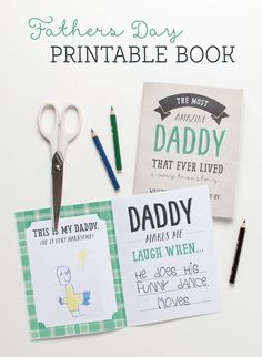 Get set to melt Dad's heart with this super special FREE Printable Fathers Day Book from Tinyme