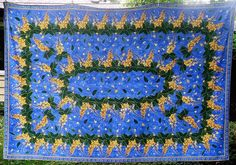 VENT DU SUD Bordes Tablecloth French 55 x 70 Blue Yellow Green Floral Country…