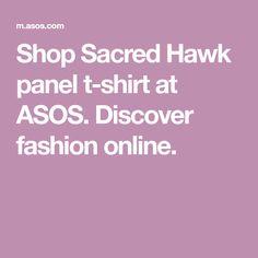 Shop Sacred Hawk panel t-shirt at ASOS. Discover fashion online.