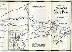 Old Letchworth State Park Map Just A Cool Old Map I Found And Saved