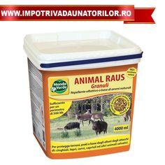 Animal Raus este un repelent eficient in alungarea animalelor, precum mistreti,caprioare,cerbi si alte animale salbatice.