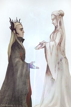 cccrystalclear:  Always imagined Thranduils wife died and he made sure a statue was made of her, to honor the queen of Mirkwood.