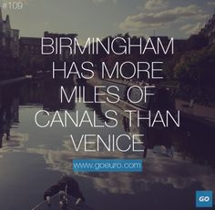 Birmingham has more miles of canals than Venice. #traveltrivia #italy