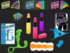 Our new neon range of products are small bright and very powerfull.  The neon luv touch lipstick is so stylish and sexy it can easily pass as part of your make up bag.  Choose a speed that is right for you and let the quiet vibrations take you away!  We even have something for him, our neon P spot cleverly curved to reach and massage the prostate gland or the jelly stroker, close your eyes, slip inside the super soft stroker with textured ribs for the best pocket pleasure you will ever have! Ribs, Makeup Yourself, Party Planning, Jelly, Massage, Range, Lipstick, Neon, Touch