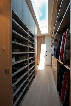 Michaels closet behind bed?