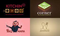 Creative Logo Designs For Restaurant Theme - 30 Logos - more on click through