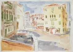 Original Landscape Painting by Dumitru Bostan Junior Watercolor Paper, Watercolor Paintings, Original Paintings, Original Art, Watercolor Landscape, Watercolors, Venice Painting, Impressionism Art, Buy Art
