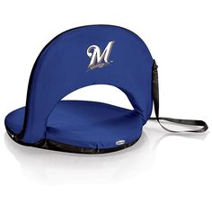 Picnic Time Milwaukee Brewers Portable Chair, Blue