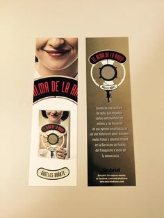 Punto de libro de 'El alma de la radio' (Umbriel) de Ángeles Doñate Packing, Album, Signs, Drinks, Love Story, Ants, Book, Dots, Bag Packaging