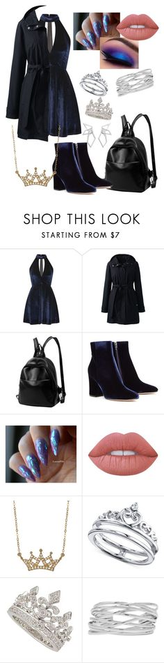 """""""•Luna 6•"""" by scarletnight13 ❤ liked on Polyvore featuring Oh My Love, Lands' End, Gianvito Rossi, Lime Crime, Lord & Taylor, Unwritten, M&Co and W. Britt"""