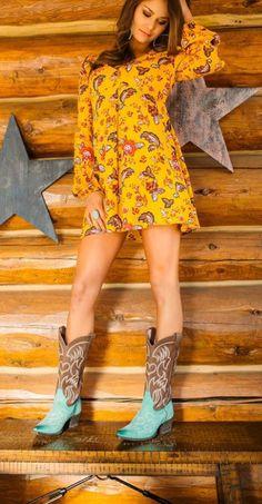 Miss Macie Pure Prairie Boots ~ Turquoise – Cowgirl Kim