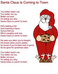 Christmas songs lyrics yahoo image search results christmas santa claus is coming to town lyrics spiritdancerdesigns Images