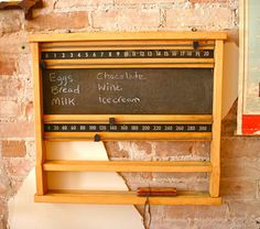Vintage Billiards Score Board - Great for the grocery list!