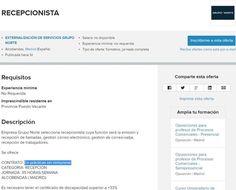 Oferta de empleo GRATIS para recepcionista con discapacidad | SOMOS sindicalistas