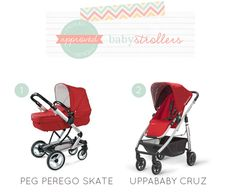 Tyckled Approved baby stroller options we picked for Julia and Chad!