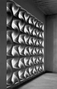 Concrete screen by Erwin Hauer.
