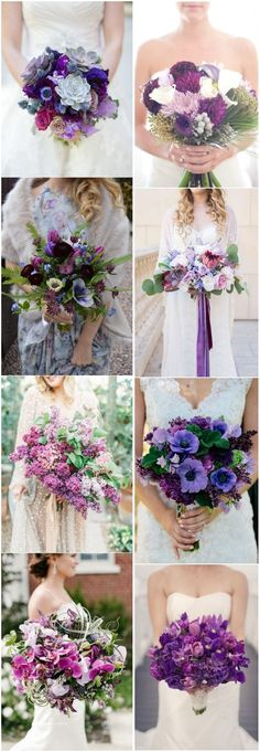 Color Of the Year 2018 - 20 Ultra Violet Wedding Bouquet Ideas #wedding #bouquet