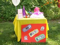 silly photo booth - Silly photo booth: This activity is a must for a carnival birthday party! Provide funny glasses, clown noses, mustaches cut out of felt, oversized hats, etc. and take silly pics of the kids using a Polaroid or digital camera. These pictures are great for including in thank you notes!