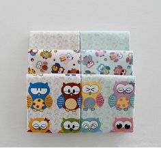 Cute owl fat quarter cotton 3 set