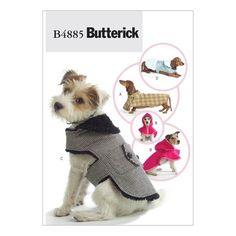 Butterick B4885 Sewing Pattern - Dog Coats - CraftStash