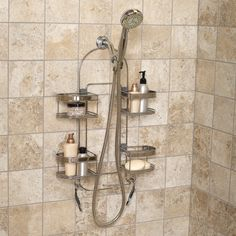 Have to have it. Zenith E7546STBB Premium Expandable Shower Caddy - Stainless Steel - $59.99 @hayneedle.com
