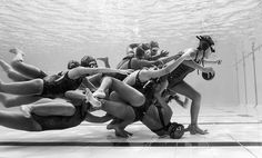 Camilo Díaz. Open, Architecture, 1st Place, 2017, Sony World Photography Awards | @camilodiazphotography #photography #underwater #sport #pool #rugby CONTEST WINNER: 'Under 21 Underwater Rugby Colombian Team' by camilo diaz/Photocrowd.com Location: Medellin, Columbia #otrasdemencias