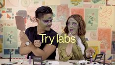 In honor of Halloween, we asked two of our colleagues to try their hands at a trending idea: Alien makeup! Try recreating the look, brought to us by Issyssi,. Alien Halloween Makeup, Halloween Looks, Witch Makeup, Clown Makeup, Makeup Eyeshadow Palette, Eyeshadow Looks, Maleficent, Alien Make-up, Futuristic Makeup