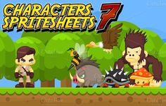 Check out Characters Spritesheet 7 by pzUH on Creative Market