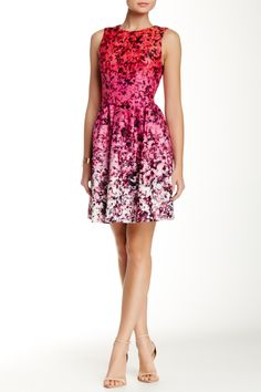 Fit & Flare Release Pleat Dress by Vince Camuto on @nordstrom_rack