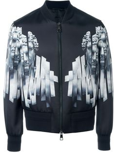 Shop Neil Barrett statue print bomber jacket in O' from the world's best independent boutiques at farfetch.com. Shop 400 boutiques at one address.