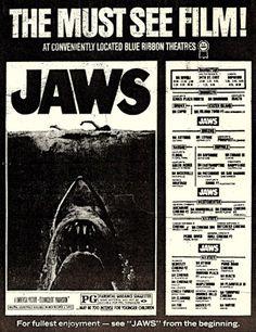 Jaws (1975) newspaper ad