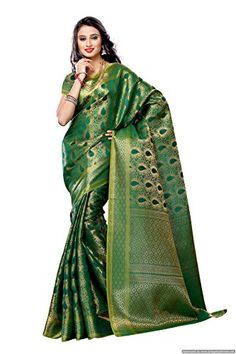 Mimosa Women'S Art Kanchipuram Silk Saree With Blouse,Color:Green - http://www.zazva.com/shop/women/mimosa-womens-art-kanchipuram-silk-saree-blousecolorgreen/ Color: Green Fabric: Art Silk Length: 6.2 mtrs(Plain Blouse Given Seprately) Work Type : Zari design woven
