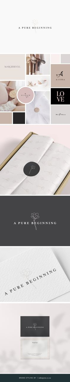 LATEST PROJECT | Here's my latest brand styling project for new business A Pure Beginning AU. They will be stocking a beautiful range of natural and organic clothing, skincare, soft toys and eco friendly nappies for babies from 0 to 12 months and gorgeous nappy bags to carry it all. Check out the full rebrand below and let me know what you think!
