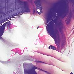 Flamingos fashion style mood