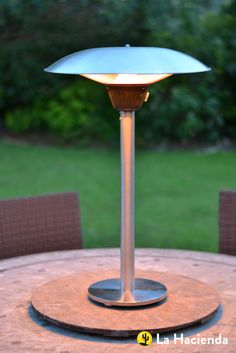 Heat up your outdoor space with an electric heater from La Hacienda Outdoor Heaters, Patio Heater, New Homes, Yard, Table, House, Electric, Top, Outdoors