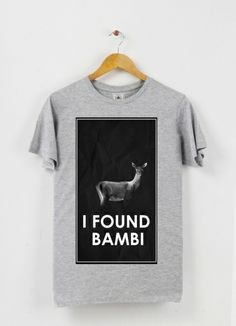 Tshirt col rond I found bambi by Arthur on Triaaangles