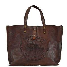 Campomaggi Faggio Donna Shopper Tasche Leder 42 cm, dark brown