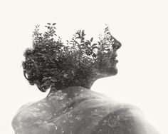 Multiple Exposure Photographs, Mixing Humans with Nature.