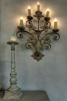Lovely candlestick and sconce