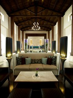 """Lovely flower """"touches"""" in the the lounge bar from one of the best hotels in the world, the Romanos, Costa Navarino in Greece."""