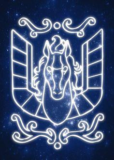 "2017/12/14 Saint Seiya Zodiac Emblems Pegasus #Displate artwork by artist ""MCAshe Art"""