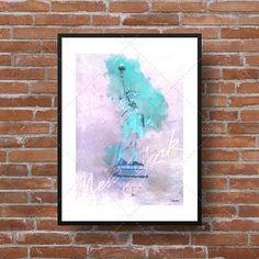 Illustration de la statue de la Liberté [New-York]. Idéal pour afficher dans la chambre, le salon ou le bureau!