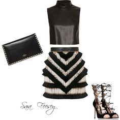 Untitled #17 by sara-elizabeth-feesey on Polyvore featuring polyvore, fashion, style, Bailey 44, Balmain, Gianvito Rossi and Valentino