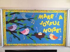 Christian themed bulletin board for spring.
