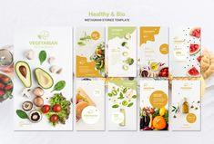 Food Background Wallpapers, Bio Food, Fb Banner, Fruit Shop, Instagram Post Template, Food Packaging Design, Instagram Design, Social Media Design, Grafik Design