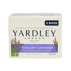 Yardley English Lavender Bar Soap, 2 Count for only $2.49 You save: $3.50 (58%) + Free Shipping
