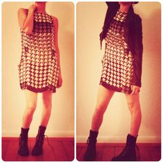 Optical Dress & Combats!!! ;) Polka Dot Top, Blog, Dresses, Women, Fashion, Vestidos, Moda, Fashion Styles, Dress