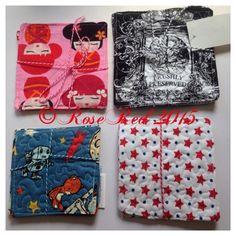 Handmade fabric coasters. Made by me! Rose Red