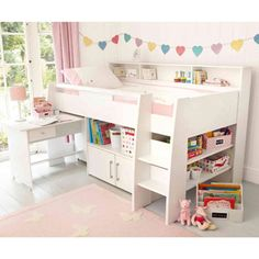 Reece Cabin Bed, White
