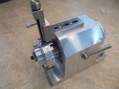 This tool was made for the purpose of reproducing the manufactures original machine tool dials; it will also function as a dividing head for general Diy Lathe, Diy Cnc, Lathe Tools, Homemade Lathe, Homemade Tools, Homemade Machine, Machinist Tools, Turning Tools, Metal Working Tools